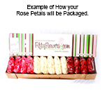 Sunset Rose Petals for your wedding
