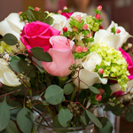 Roses and Hydrangeas up close