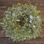 Seeded Eucalyptus Wreath FlatLay
