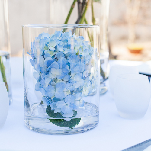 Light Blue Simply Lush Hydrangea Wholesale Flower In a vase
