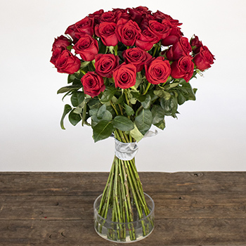 Farm Fresh Red Roses Spiral Arrangement