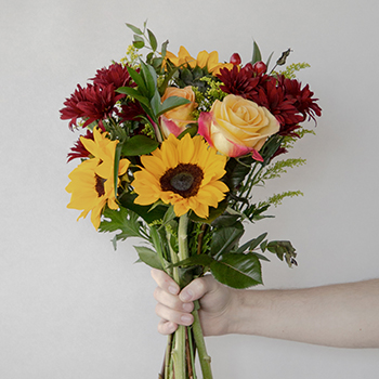Floral Centerpieces Sunflowers and Fall Colors
