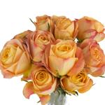 Sunset Romantico Garden Wholesale Roses In a vase