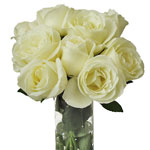 Vanilla Cream Garden Wholesale Roses In a vase