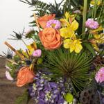 Vibrant Colors DIY Flower Centerpiece in a vase