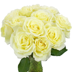 Vitality Ivory Wholesale Garden Roses In a vase