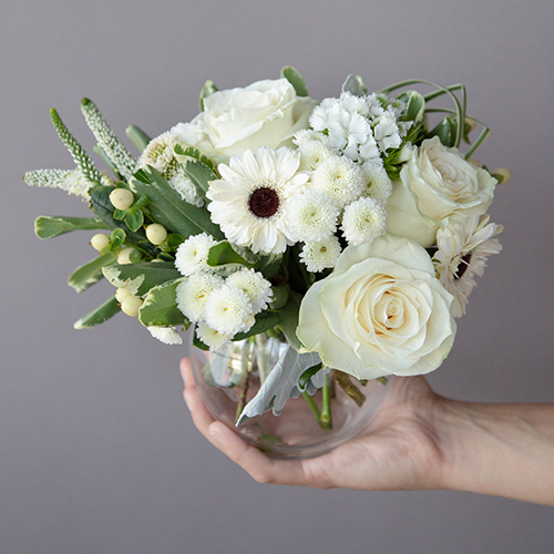 White Themed Event Decorative Flower Arrangement