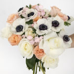 Sweet Peach Tea Flower Bouquet Gift