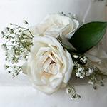 White Rose Cake up close