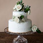 White Rose Cake Flower