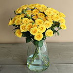 Yellow Babe Wholesale Roses In a vase
