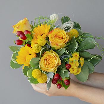Yellow Themed Event Decorative Flower Arrangement