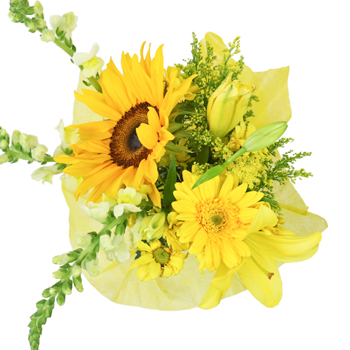 Farm to Table Yellow Centerpieces