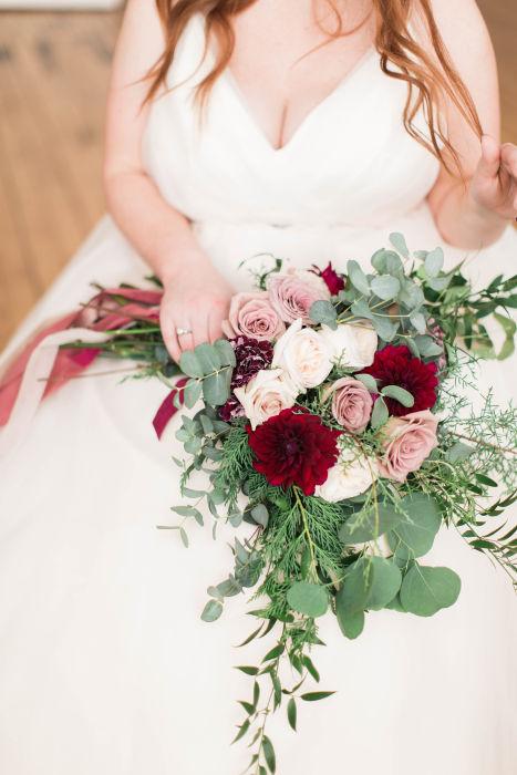 Fiftyflowers Review Blush Amp Burgundy Winter Wedding